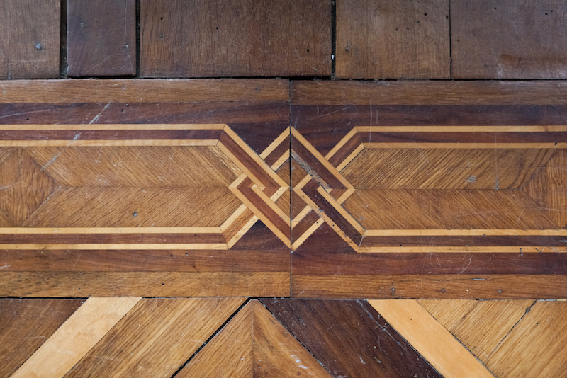 pavimenti in legno con intarsi