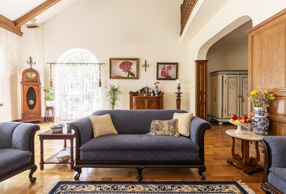 Homey Design upholstery living room set Victorian ...
