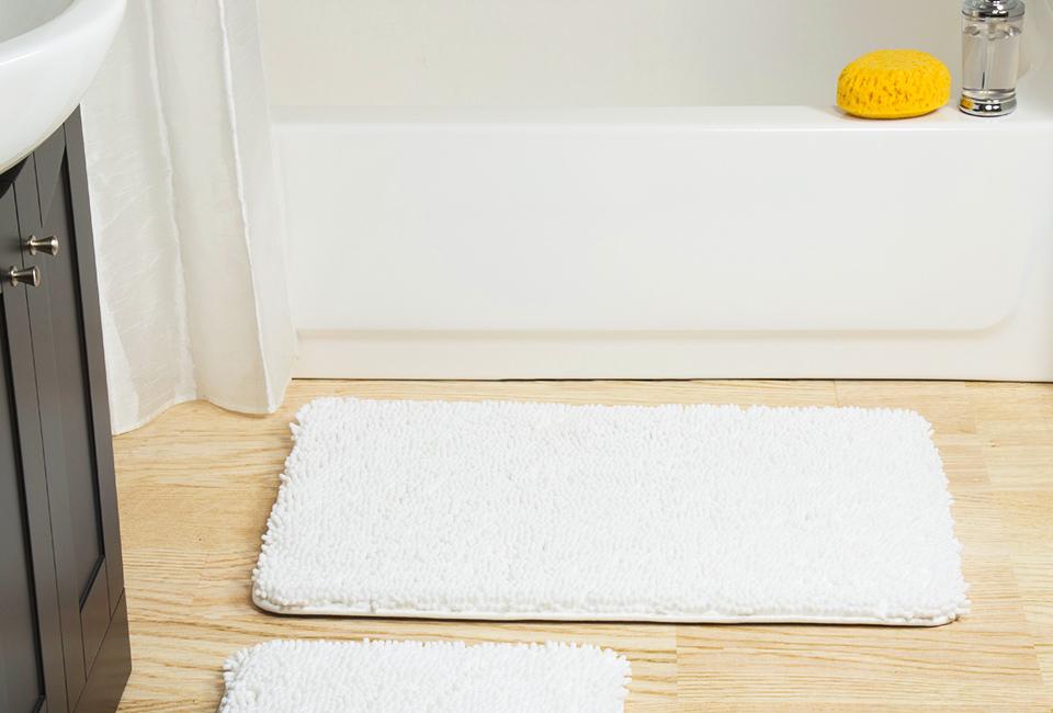 Parquet in bagno: utilizzo del tappetino