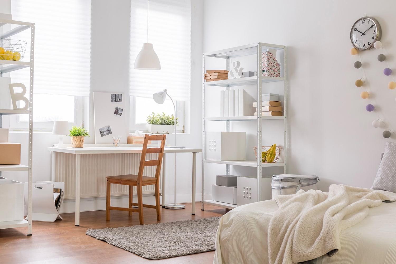 Camera da letto in total white